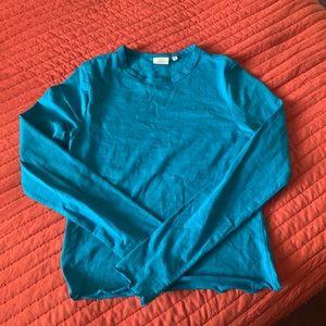 blue long sleeve shirt *never been worn*